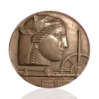 Medallic Art Company : 50th anniversary bronze medal, 1950.
