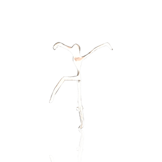 [unattributed] American jewelry : Sterling silver pin—the dancer, ca.1980s.