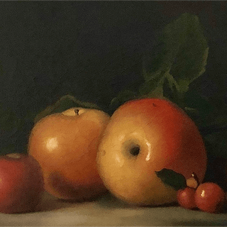 James Peale, Sr. [1749-1831] American : Still-life with quince, ca.1820s.