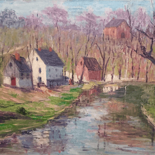 Annie Lovering Perot [1854-1935] : By the creek, possibly Fort Washington
