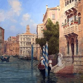 Arthur Trevor Haddon [1864-1941] British/American : Venice, ca.1890.
