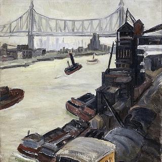 Neva Alma (Schrist) Coffey [1902-1986] American WPA artist : The East