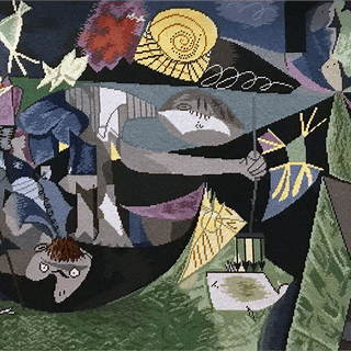 Pablo Picasso [1881-1973] authorized tapestry : Night fishing at Antibes