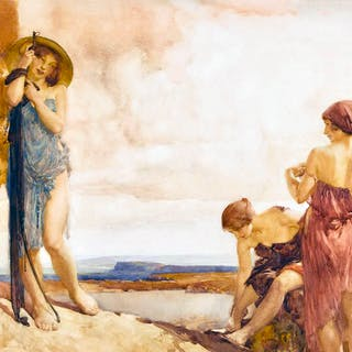 William Russell Flint [1880-1969] Scottish-English painter : Three