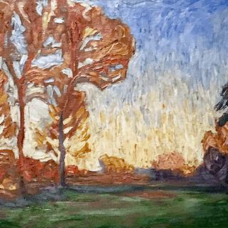 Willibald Paschke [1888-1955] Polish impressionist artist :  Landscape