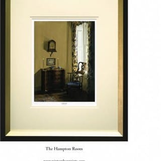 A framed print of the Hampton Room