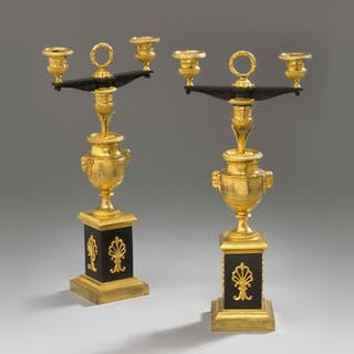 "A pair of candlesticks called ""bougeoirs cassolettes"""