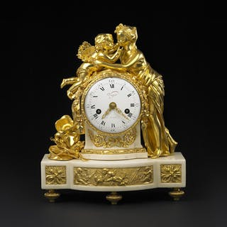 Gold-plated, French Louis XVI Pendulum of Viger