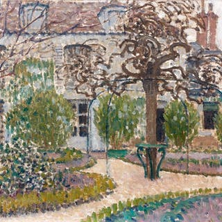 The garden of the painter at Nemours in winter