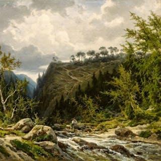 Mountain Stream in the Alps