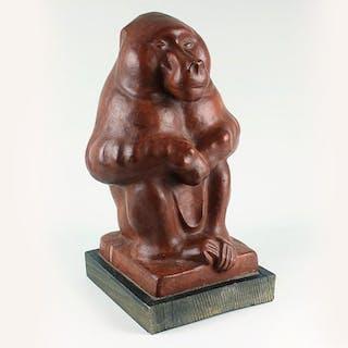 Sitting mantle baboon