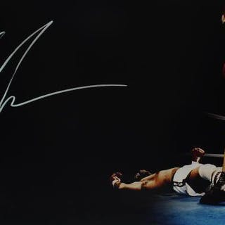 """Mike Tyson Signed 12"""" x 24"""" Photograph (PSA/DNA)"""