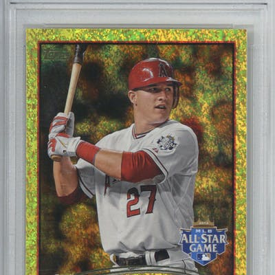 Mike Trout Rare 2012 Topps Update Gold Sparkle Us144 Rookie