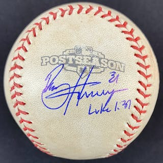 Bryce Harper Signed Game Used Baseball from 2012 NLDS (Harper's First