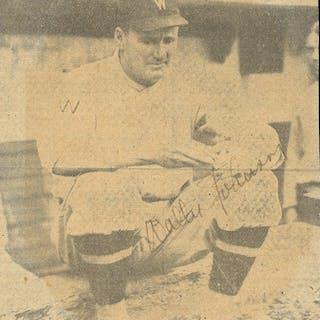 "Walter Johnson Signed 4"" x 4"" Washington Senators Photograph (JSA)"