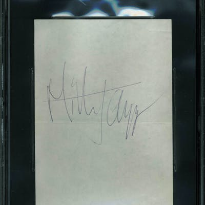 The Rolling Stones Mick Jagger Vintage Signed Album Page