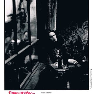 "Nine Inch Nails: Trent Reznor Signed 8"" x 10"" B&W Publicity Photograph"