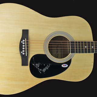 Van Morrison ULTRA RARE Signed Acoustic Guitar (PSA/DNA)