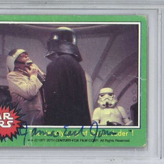 Darth Vader: James Earl Jones Signed 1977 Topps Trading Card #204