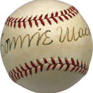 Connie Mack Rare Single-Signed Reach Baseball (PSA/DNA)