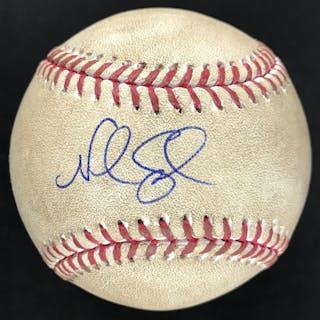 Noah Syndergaard Signed & Game Used OML Baseball :: 5-11-2016 NYM