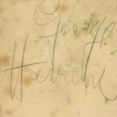 The Beatles George Harrison Vintage Signed 2 5 X 3 Album