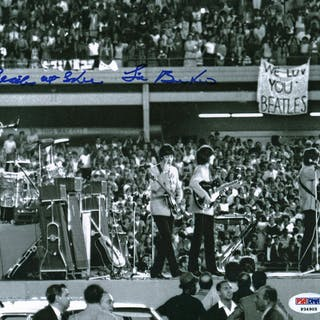 "The Beatles: Sid Bernstein Signed Beatles At Shea Stadium 8"" x 10"""