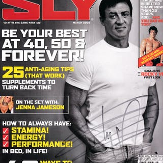 Sylvester Stallone Signed Inaugural Issue of SLY Magazine (Beckett/BAS)