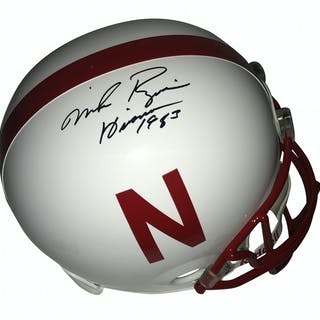Mike Rozier Signed Nebraska Full Size Replica Helmet (Tristar)