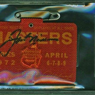 Jack Nicklaus Rare Signed Original 1972 Masters Badge (Nicklaus Victory)(Beckett