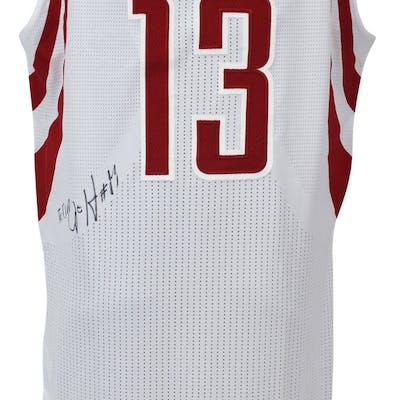 huge discount 67ec0 cd8b1 James Harden 2012-13 Game Used & Signed Adidas Houston ...