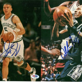 """NBA Stars Lot of Four (4) Signed 8"""" x 10"""" Photographs w/ Iverson"""