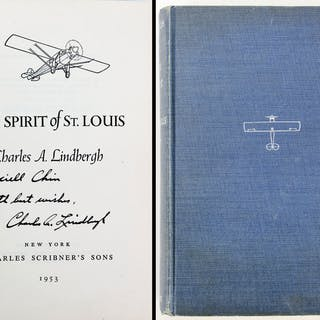 "Charles Lindbergh Signed ""The Spirit of St. Louis"" Hardcover Book (Beckett/BAS)"