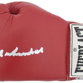 Muhammad Ali Superbly Signed Red Everlast Boxing Glove (Beckett/BAS)