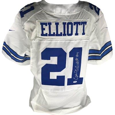 on sale d3989 35c74 Ezekiel Elliott Signed Dallas Cowboys Jersey (PSA/DNA ...