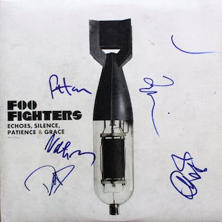 "The Foo Fighters Group Signed ""Echoes, Silence, Patience & Grace"""