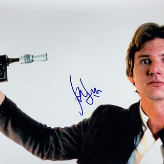 """Star Wars: Harrison Ford Signed 30"""" x 20"""" Color Photograph as Han"""