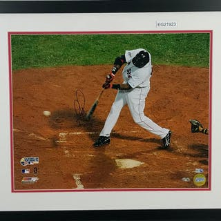 "David Ortiz Signed 16"" x 20"" Color Photograph (Steiner & MLB)"