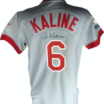 size 40 a3ca1 0819f Al Kaline Signed & Game Used 1983 Old Timers Day Jersey ...