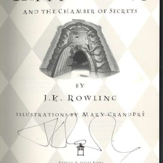 "J.K. Rowling Signed ""Harry Potter & The Chamber of Secrets"" Hardcover"