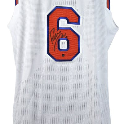 reputable site fe838 33478 Kristaps Porzingis Game Used & Signed 2-23-17 New York ...