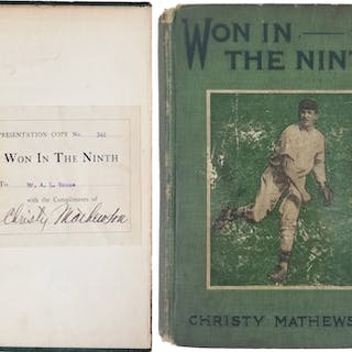 "Christy Mathewson ULTRA-RARE Signed ""Won in the Ninth"" Hardcover Book (JSA)"