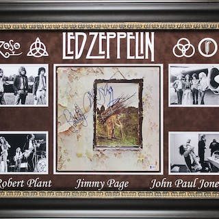 "Led Zeppelin Group Signed ""Led Zeppelin IV"" Record Album with Page"