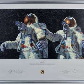 Apollo 12: Alan Bean & Charles Conrad Dual-Signed Ltd. Ed. Framed