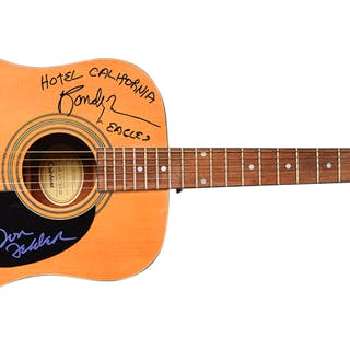 The Eagles Exceptional Group Signed Guitar w/ 5 Signatures - One of