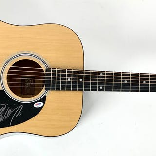 Hank Williams Jr. Signed Rogue Acoustic Guitar (PSA/DNA)
