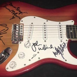 Fleetwood Mac Group Signed Stratocaster-Style Guitar w/ Rare 4 Sigs (ACOA)