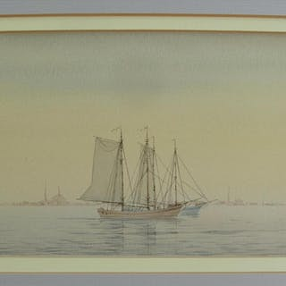 Signed Maritime seascape W/C George Stanfield Walters British 1837-1924 FR3SHC1