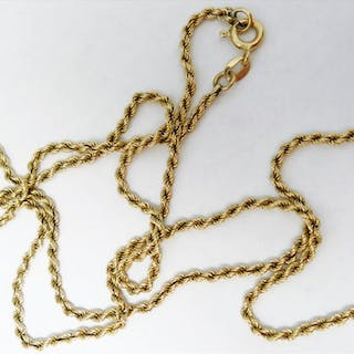 14k Yellow Gold Rope Style Chain - A4BL