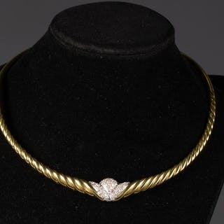 18k Two-colored Gold and Diamond Choker FJF1